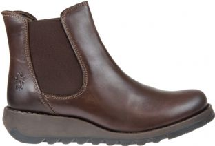 FLY London Salv Womens Dark Brown Leather Boots